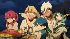 Magi - Morgiana, Aladdin, Yamuraiha, Alibaba, & Sharrkan ^_^;