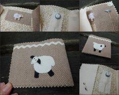Lamb needlebook