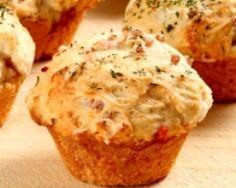Muffins aux champignons et au jambon