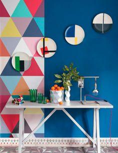 Geometrics and colours.