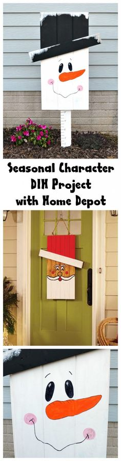 Create this fun Seasonal Character Decor at your local @HomeDepot #DIHWorkshop! Register today! #ad
