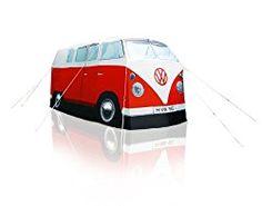…ist wohl dieser Männer- bzw. Frauentraum in rot. Die Ähnlichkeit zum VW-Bus von 1965 ist verblüffend, trotzdem handelt es sich um ein Zelt für 4 Personen. #vwbulli