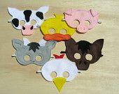 Child Size Farm Animal Masks