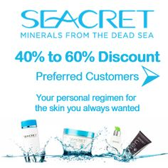 """#Seacret Direct Preferred Customer 40-60% Discount Find out How!  Learn more about this picture from my #Seacret Direct Review blog post: """"Seacret Direct Review: A Comprehensive Review"""" by Amado Manalo Jr. For more info read the full blog post here: http://socialmediabar.com/seacret-direct-review-pinterest"""