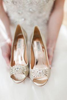 Badgley Mischka shoes   Cory & Jackie Wedding Photographers   Glamour & Grace