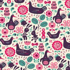 Folklore pattern by Helen Dardik