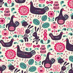 Folklore pattern by Helen Dardik