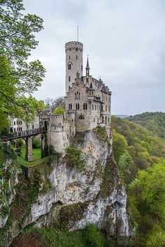 Lichtenstein Castle is a historicist castle built in the 19th century. It is located at the edge of the Swabian Alps, 817 metres above sea level. By Robert Vanderwal