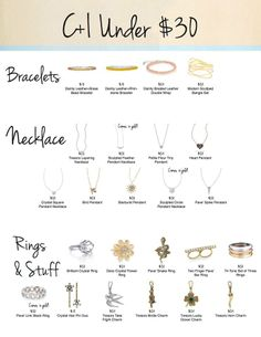 Great gifts under $30! Lovely jewelry from Chloe + Isabel! All with a lifetime replacement warranty! www.chloeandisabel.com/boutique/lisab #Gifts #Christmas #Holidays #Jewelry #Love