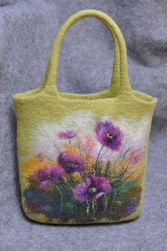 felted bag--Wow! I'm sure there is no way I could ever do this, but I love it, and maybe someday I will be so talented. Wow!