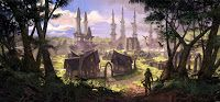 Zenimax has released a few new pieces of concept art for The Elder Scrolls Online featuring landscapes from Skyrim, Hammerfall, and Elsewyr. Video Game Industry, Video Game News, Elder Scrolls Online, Skyrim, Concept Art, Landscape, Painting, Conceptual Art, Scenery
