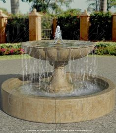 Tiered Marble Fountains | Tiered Fountains | Tiered Fountains | Custom Tiered Fountain, Fine's Gallery marble fountain, 6'D, 3'H
