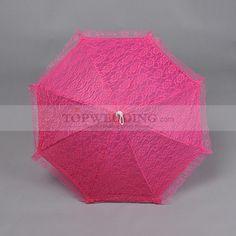 Rose Red Lace Wedding Umbrella