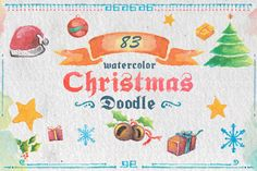 Check out 83 Watercolor Christmas Doodle by NStudio on Creative Market