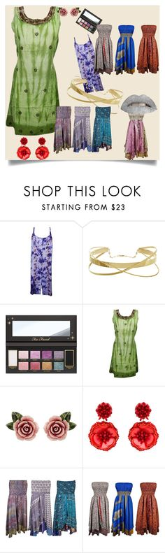 """Bohemian Dresses"" by boho-chic-2 ❤ liked on Polyvore featuring Dolce&Gabbana, Mignonne Gavigan, dresses, sundress and sleevelessdresses"