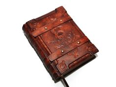 Solomon's book handmade brown leather journal  Medieval by dragosh