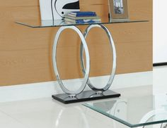 Athens Clear Glass Console Table