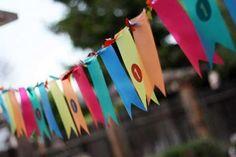 Colorful & Waterproof Outdoor Birthday Banner
