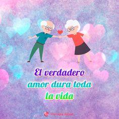 Tierna imagen de amor de pareja de viejitos