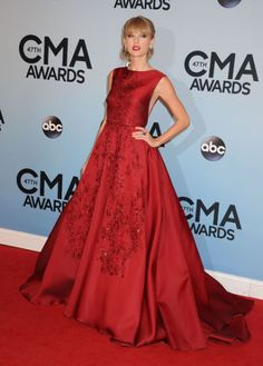 Taylor Swift Red Elie Saab gown dress