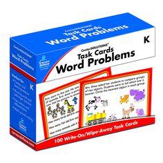 TASK CARDS WORD PROBLEMS GR K