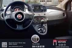 Fiat 500. Controles de audio en el volante. Solicita tu prueba de manejo al 4-38-82-00. Es completamente Gratis.