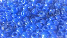 100 DARK BLUE pony beads by KandiStash on Etsy, $2.00