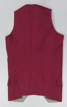 Waistcoat Date: 1770–80 Culture: probably British Medium: wool, silk, cotton
