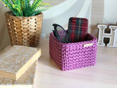 Large Storage Baskets, Small Storage, Eyeglass Holder Stand, Square Baskets, Terry Towel, Glass Holders, Crochet Poncho, Storage Compartments, Glasses Case