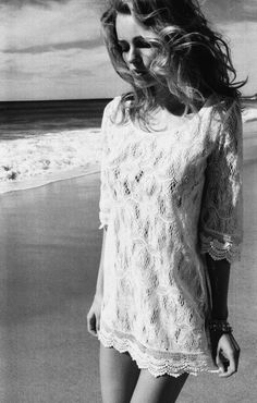 lace and the beach- simplicity