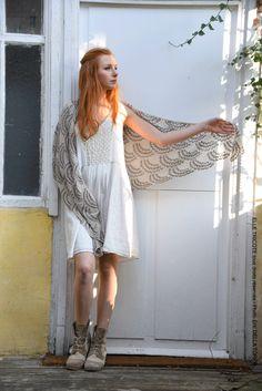 Kit tricot châle coquillages - ELLE TRICOTE - Collection printemps été 2016
