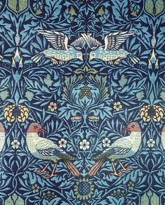 William Morris Blue Tapestry William Morris was an English textile designer, artist, writer, and socialist associated with the Pre-Raphaelite Brotherhood and British Arts and Crafts Movement. He founded a design firm in partnership with. William Morris Wallpaper, William Morris Art, Morris Wallpapers, Blue Tapestry, Tapestry Weaving, Illustrations, Illustration Art, William Morris Patterns, Edward Burne Jones