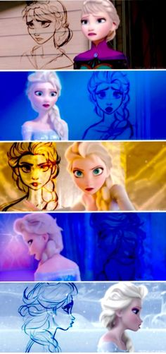 Elsa~❄️.  I do like Forzen and others a lot, but I miss when Disney use to draw