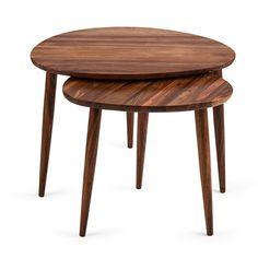 Acacia Pebble Nesting Tables Large Table, Small Tables, Wood Nesting Tables, Acacia Wood, Mid Century Design, Wood Grain, Solid Wood, Scandinavian, Table Settings
