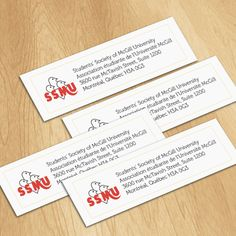 Students' Society of McGill University (SSMU) Classic Paper Stickers Size 25x100mm  #classicpaperstickers #classicpaper #paperstickers #stickerprinting #stickers #stickercanada #ontariostickers #casticker #stickerca