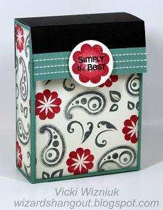 Flip top card box. Stunning!