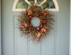Fall Wreath Autumn Wreath Berry Wreath by countryprim on Etsy, $40.00