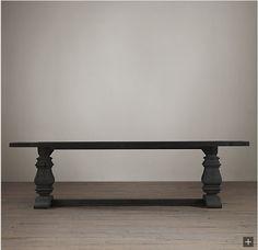 Restoration Hardware Look-Alikes: Save 1100.00 vs Restoration Hardware Trestle Salvaged Wood Dining Table