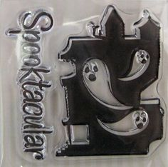 "We R Memory Keepers ""Spooky House"" Spookville 2 Clear Acrylic Scrapbooking Stamp Scrapbooking Ideas, Halloween Embellishments & Card Making by SimplyCraftSupplies on Etsy"