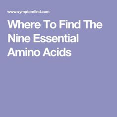 The Diet Cure  Amino Acids Supplement Chart  AlvinalexanderCom