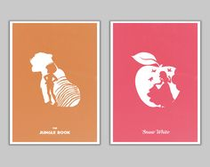Poster set retro disney minimalist movie by goldenplanetprints