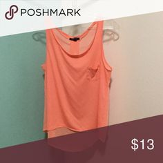 Tank w/ sheer back Silk & cotton tank, sheet back. High/low hemline American Eagle Outfitters Tops Tank Tops