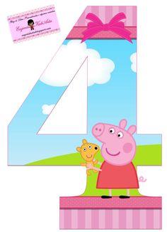 Alphabet Peppa Pig in the Field with Puppy. Peppa Pig Happy Birthday, Pig Birthday Cakes, Happy Birthday Girls, 4th Birthday, Bolo Da Peppa Pig, Peppa Pig Teddy, Cumple Peppa Pig, Abecedario Baby Shower, Invitacion Peppa Pig