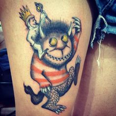 carol, kingmax tattoo, Where the wild things are, maurice sendak, tattoo.  facebook: mawetattoos