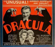UNIVERSAL ad mat for DRACULA (1931)