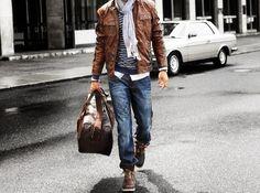 Le weekend c'est décontracté! #Casual #Decontracte #pratique #Cuir #Jeans