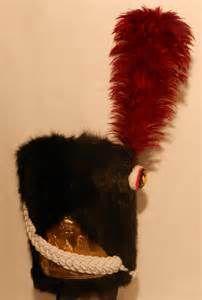 Bonnet d'ourson da granatiere a piedi della guardia imperiale francese