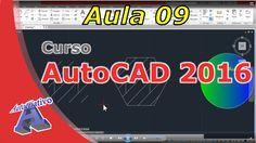 Curso de AutoCAD 2016 – Comandos de Desenho Parte 2 – Aula 09 – Autocria... Autocad 2016, Youtube, Engineering, Classroom, Youtubers