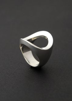 Trifecta Ring Cast sterling silver ring