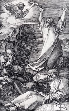 Albrecht Dürer-  Albrecht Durer (1471-1528) Agony In The Garden (Engraved Passion) Engraving 1508  GRAVÜR